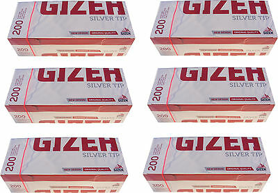 1200 Gizeh Cigarette Making Tubes Sleeves - Silver Tip - New & Sealed