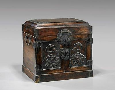 Large Chinese Wood Jewelry Chest