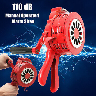 "LK-100 4.5"" Handheld otor Driven Air Raid Alarm Operated Security Siren Portable"