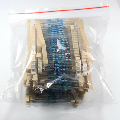 600 Pcs 30 Kinds Each Value Metal Film Resistor pack 1/4W 1% resistor Set