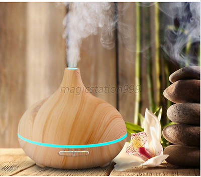 LED Ultrasonic Aroma Diffuser Essential Oil Humidifier Air Aromatherapy 300ML UK