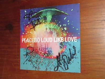 "Placebo - Hand Signed ""loud Like Love"" Compact Disc Booklet"