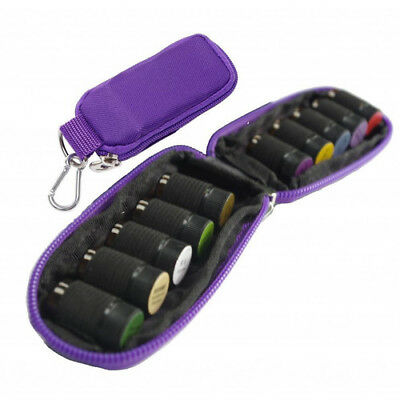 10 Bottles Essential Oils Carry Case Holder Storage Travel Bag 2mL Pouch