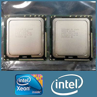 Macthed Pair Of Intel Xeon X5680 6 Core 3.33Ghz 12Mb 6.4Gt/s Processor Cpu Slbv5