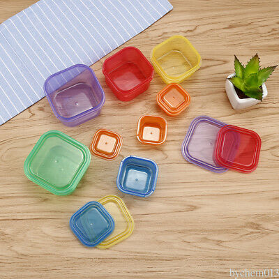 7Pcs different sizes Small square lunch box storage box Container food pill CD3