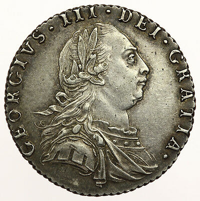 1787 Sixpence George III EF ~ S3749 with Semée of Hearts