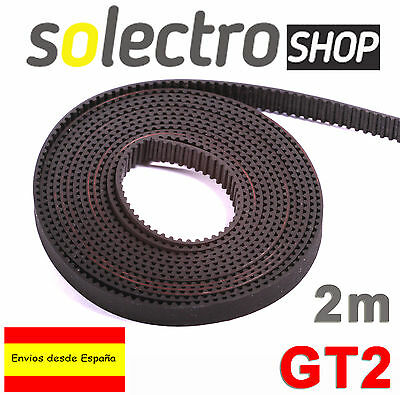 2m CORREA GT2 6mm BELT IMPRESORA 3D PRINTER REPRAP Pitch 2mm I0006