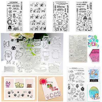 Various Shapes Transparent Silicone Clear Rubber Stamp Cling Scrapbooking Craft