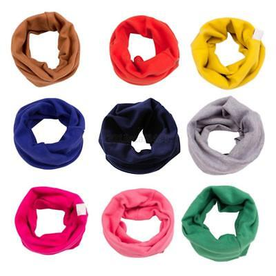 Kids Baby Boy Girl Toddler Cotton Candy Scarf Neckerchief Warm Scarves Shawl UK