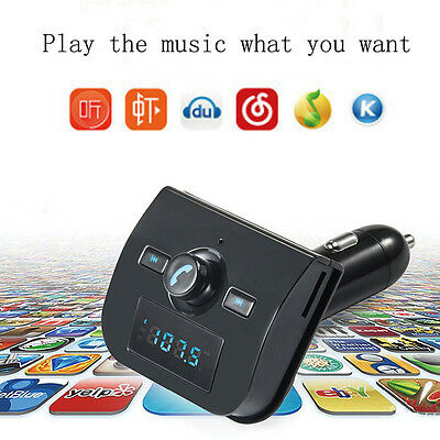 FM Transmitter Bluetooth Handsfree Kit USB Car Charger MP3 Player SD Card Aux