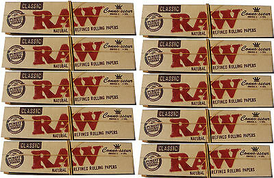 10 Packs Of Kingsize King Size Raw Unbleached Natural Slim Rolling Papers + Tips