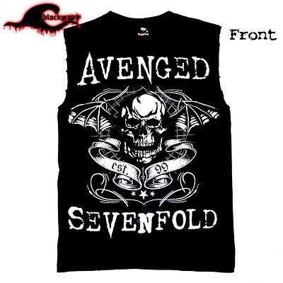 Avenged Sevenfold - Exclusive Deathbat - Classic Modified Cut-Off Band Singlet