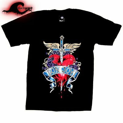 Bon Jovi - Heart & Sword - Classic Band T-Shirt