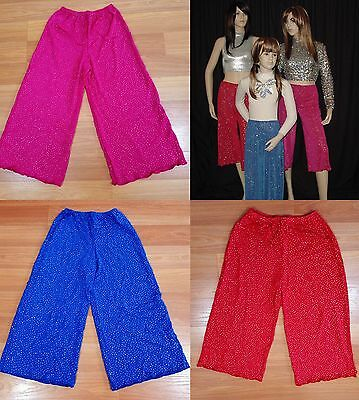 Glitter Capri Crop Pants Only Dance Costume Fits Child Large-Adult S Clearance
