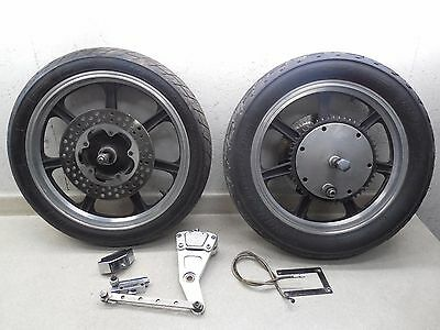 77 Harley Ironhead Sportster XLH1000 FRONT & REAR LESTER WHEELS W/ GMA BRAKE SYS