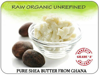 Shea Nut Butter - Natural Unrefined Raw Certified Organic 100% Pure A Grade W