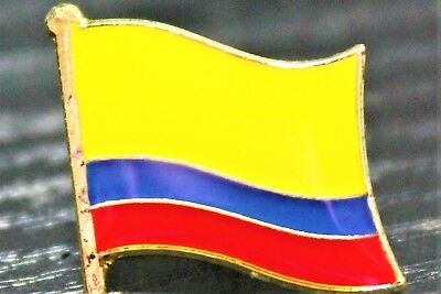 COLOMBIA Colombian Country Metal Flag Lapel Pin Badge *NEW*