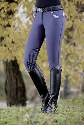 HKM Pro Team Performance Equestrian Silicone Knee Horse Riding Comfort Breeches