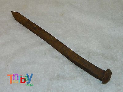 """Antique hand forged iron Nail Beam spike door Barn Deco 10 1/2"""" Lot B"""