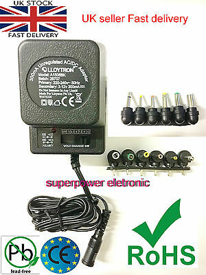3v 4.5v 6v 7.5v 9v 12 Universal AC/DC Power Supply Adaptor Plug Charger Adaptor