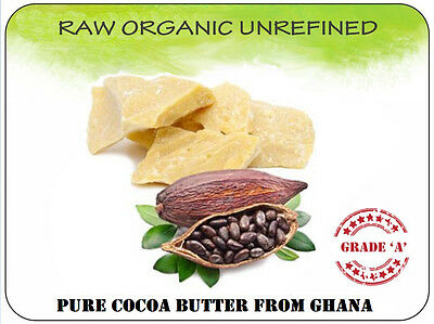 Cocoa Butter 100% Natural Raw Organic Unrefined Pure DIY skincare body cream