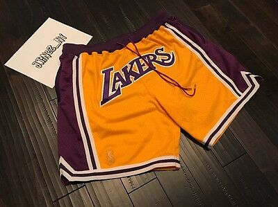 c35e26bf JUST DON NBA LOS ANGELES LAKERS Shorts FRIENDS AND FAMILY XXL jordan fear  of god
