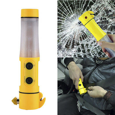 4 IN1 Car Emergency Hammer Escape Seat Belt Cutter Portable Auto Safety Hammer