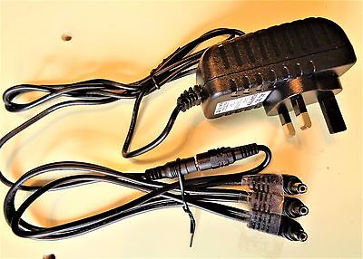 9V  Power Supply & 3 Way Daisy Chain Cable For Mxr Guitar Effect Pedals