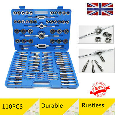 M3-M20 Thread Tap Wrench And Die Set 110 pcs Hand Tools Car Tools W/ Blue Case