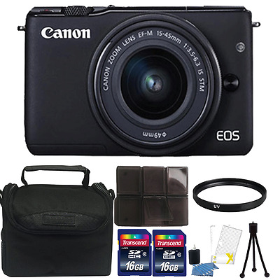 Canon EOS M10 Mirrorless Digital Camera + EF-M 15-45mm Lens + 52mm Accessory Kit