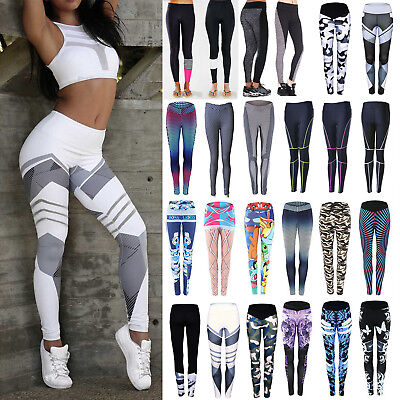 Womens Sports Pants Yoga Running Fitness Leggings Gym Workout Stretch Trousers