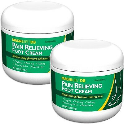 NEW (Set/2) MagniLife Pain Relieving Foot Cream - Calms Nerves In Feet And Toes