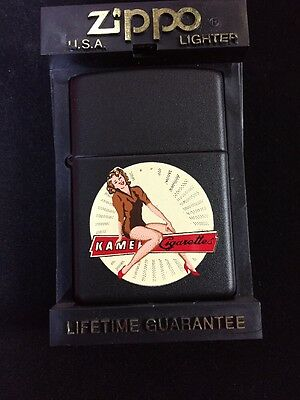 Kamel Pin-up Prototype Vary Rare Z283 Camel Zippo Lighter Black Matte