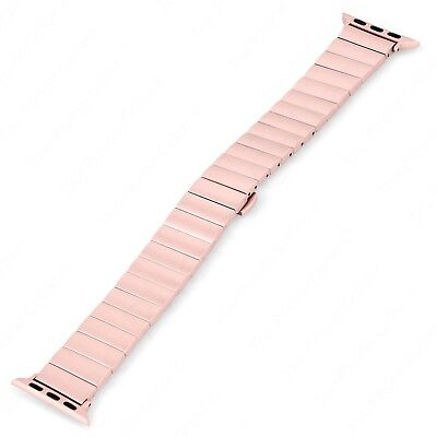 Platinum PT-AWB38RGLB Rose Gold Stainless Steel Link Band for Apple Watch 38mm
