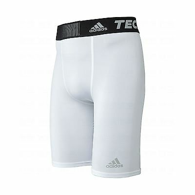 adidas Performance Men's Techfit Base 9-Inch Short Tights White XX-Small