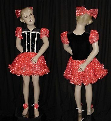Lot of 3 Beautiful Doll Dance Costumes Tap Dresses Child Large Fit Child Medium