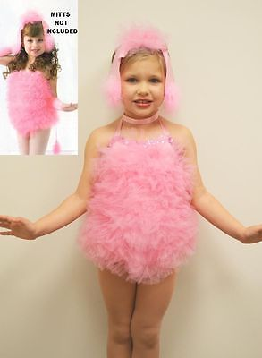 Poodle Perfect Dance Costume Pink Leotard and Ears Tap Halloween Child X-Small