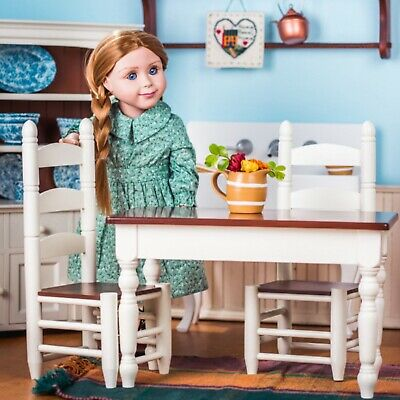 18 Inch Doll Kitchen Table & Chairs Use For American Girl Furniture Accessories