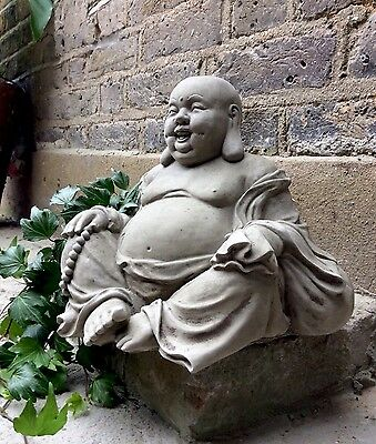 Beautifully Detailed Happy Buddhas Statue (6kg) For The Home Or Garden From Sius