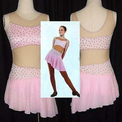 The Lori Dance Costume PINK Lyrical Ballet Ice Skating Dress CM & CL & AXS=CL AL