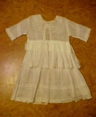 VICTORIAN Girls Cotton Day Dress circa 1860-1900 for Display or Patterns