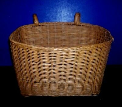 Wicker Woven Basket w/ Loops for Wall Hanging