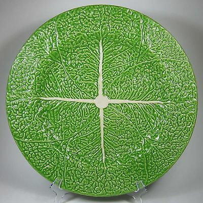 Bordallo Pinheiro Bright Green CABBAGE Round Serving Platter Charger Portugal