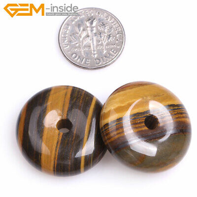 Natural Assorted Stone Ring Circle Donuts Beads Jewelry Making 15'' Wholesale