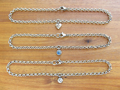 304 Stainless Steel Rolo or Belcher Chain Charm (various) Anklet