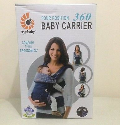 Ergobaby 4 Positions 360 Baby Carrier - Dusty Blue - FREE SHIPPING