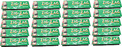 20 x REGULAR SIZE ZIG ZAG GREEN CIGARETTE ROLLING PAPERS - 50 PAPERS PER PACK