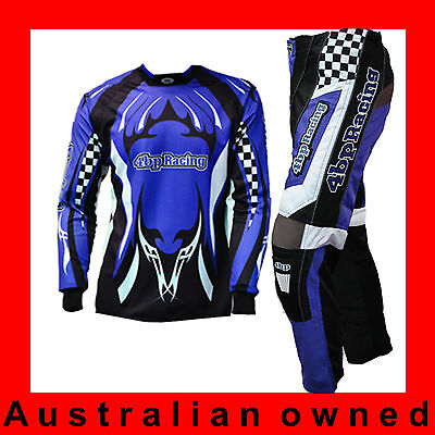 4BP MOTOCROSS MX Senior/Adult Outfit (Pants Jersey) - Motox clothing - Red