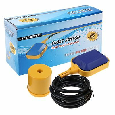 """Liquid Fluid Water Level Float Switch Sump Tank Controller Sensor with 75"""" Cable"""