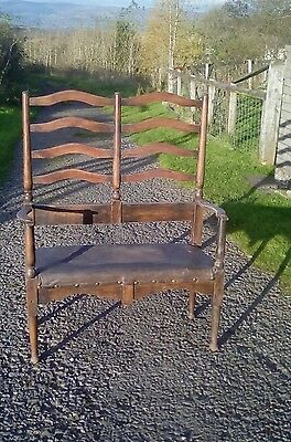 Old hall bench seat